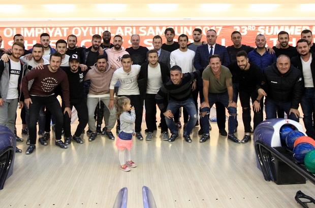 Samsunsporlu futbolcuların bowling keyfi