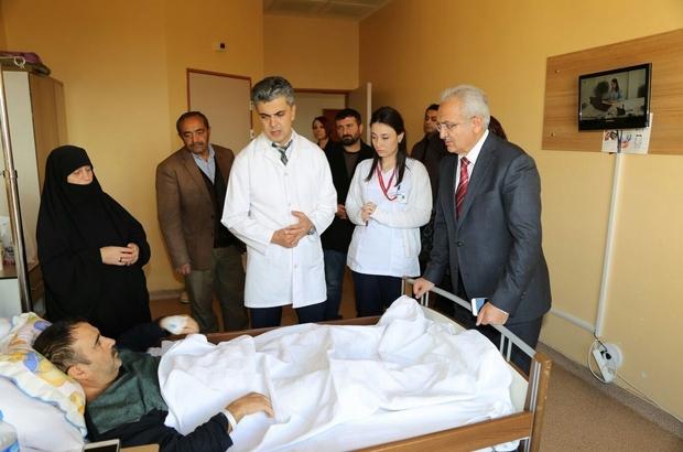 Başkan Başsoy'dan mevlit kandilinde hastahane ziyareti