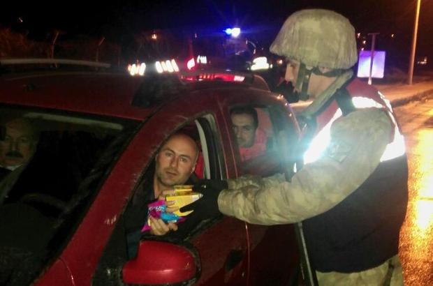 Torul Jandarma ekiplerinden örnek davranış