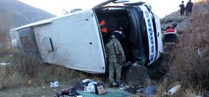 GÜNCELLEME - Erzincan'da otobüs kazası: 1 ölü, 25 yaralı