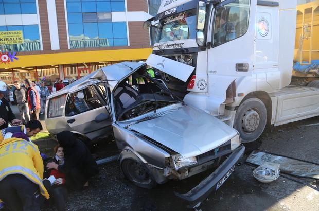 Ordu'da hafriyat kamyonu otomobille çarpıştı: 1 ölü, 1 yaralı