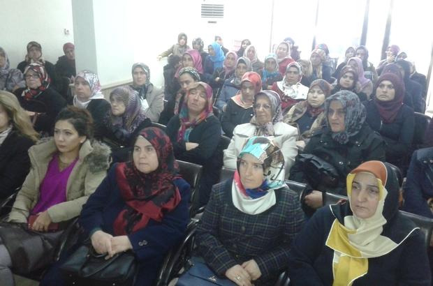 """Kadınlara """"Aile İçi Şiddet"""" konulu seminer verildi"""