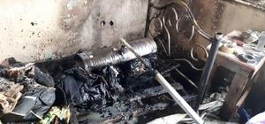 Tersane işçilerinin kaldığı evde yangın çıktı
