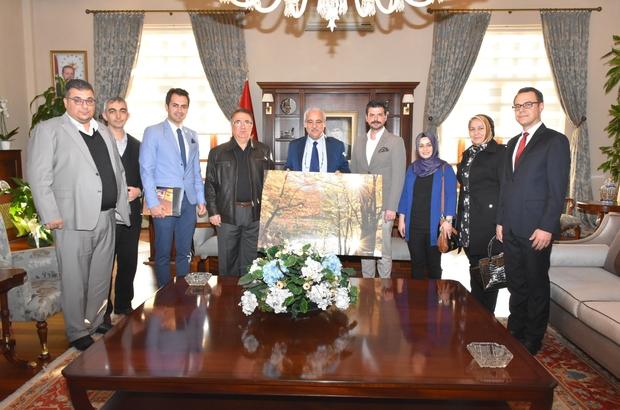 MAFOD yönetimi Vali Güvençer'e projelerini anlattı
