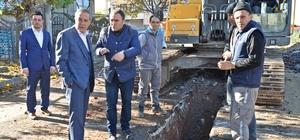 Başkan Özdemir yağmur suyu projesini inceledi
