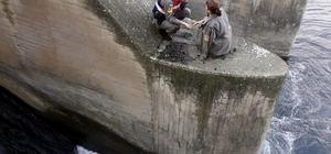 lkollü kadını nehre düşmekten jandarma kurtardı