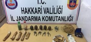 Yüksekova ve Şemdinli'de silah ve mühimmat ele geçirildi