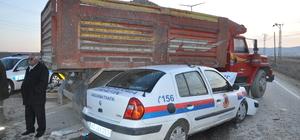 Kırşehir'deki trafik kazasında 2 asker yaralandı