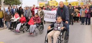 Kuşadası'nda engelli yürüyüşü