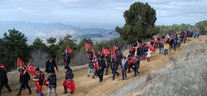 Beypazarı'nda şehitler için zirve yürüyüşü
