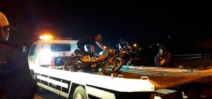 İki motosiklet kafa kafaya çarpıştı: 4 yaralı