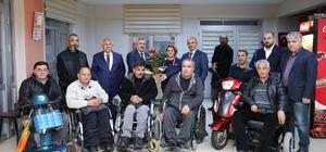 Başkan Baran'dan engellilerle buluştu