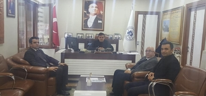 Başkan Yalçın, İlçe Milli Eğitim Müdürü Köroğlu ile bir araya geldi