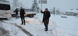 Düzce'de Karla mücadele çalışmaları sürüyor