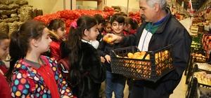 Meyve ve Sebze Hali'ne öğrencilerden anlamlı ziyaret