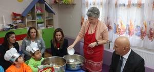 Kreşli minikler Mutfak Atölyesi'nde maharetlerini gösterdi