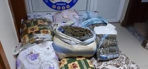 Şanlıurfa'da 120  kilo esrar ele geçirildi