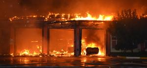 Adana'da Karayolları Şube Şefliği yerleşkesinde yangın
