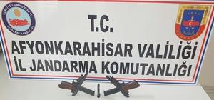 Jandarma çok sayıda ruhsatsız silah ele geçirdi