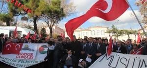 Tekirdağ'da 'Kudüs' protestosu