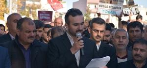Kahta ilçesinde Kudüs eylemi