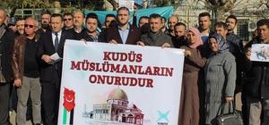 Ergene'de İsrail'i protesto eylemi