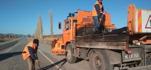 Yollara asfalt yama çalışması