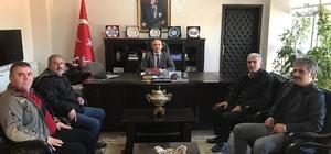 Burhaniye'de Şehit Babası Mehmet Zeki Sekin Kaymakam Öner'i ziyaret etti