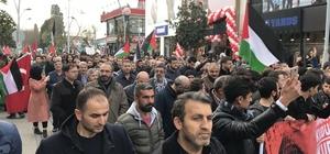 Kudüs için yüzlerce kişi yürüdü