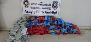 Midyat'ta 250 kilogram kaçak nargile tütünü ele geçirildi