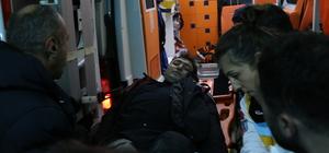 Olaya giden polisler kaza yaptı