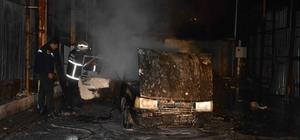 Ortaca'da park halindeki araç yandı