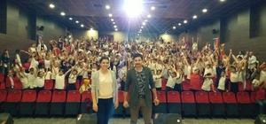 Siber polisten öğrencilere internet bağımlılığı semineri