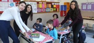 Üniversiteli gençler köy çocuklarını sevindirdi