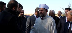 Diyanet İşleri Başkanı Erbaş Halisdemir'in kabrini ziyaret etti