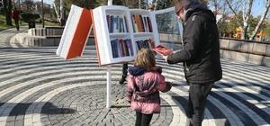 Odunpazarı Belediyesi'nden kitap kurtları için parklara açık hava kütüphanesi