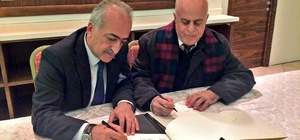 Rektör Çomaklı, Filistin Al-Quds Üniversitesi ile işbirliği protokolü imzaladı