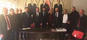 MHP İl Başkanı Avşar'dan İlçe Başkanı Samanlı'ya ziyaret