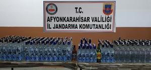 Jandarma 254 şişe kaçak içki ele geçirdi