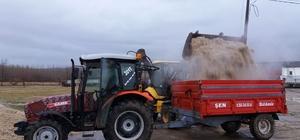 Pancar üreticilerine 100 ton yaş küspe dağıtıldı