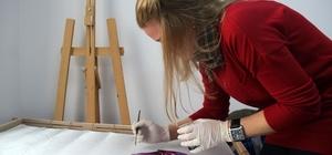 SAMEK'le ipek kumaşlar sanat eserine dönüşüyor