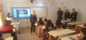 Kaymakam Yaman, Necatibey Ortaokulu'nu ziyaret etti