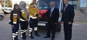 Sağlık Bakanlığından gönderilen 3 ambulans ilçelere teslim edildi