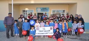 Tokat Jandarmasından köy okuluna 620 kitap hediye edildi