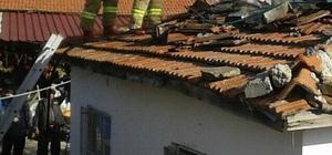 Bacadaki çatlak çatıyı yaktı