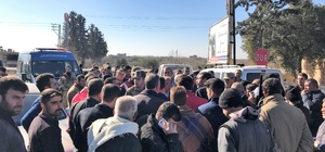 Gaziantep'te yol kapatma eylemi