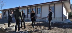 Kulu'da 4 derslikli yeni okul inşaatında sona gelindi