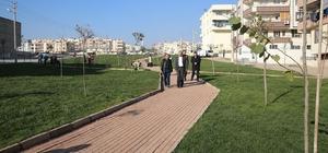 Devteşti Mahallesinde park ve yol çalışmalarını incelendi