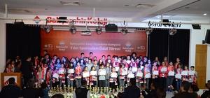 Bahçeşehir Koleji'nden başarılı sporculara ödül töreni