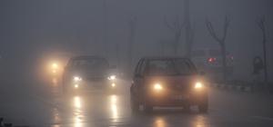 Manisa'da yoğun sis etkili oldu